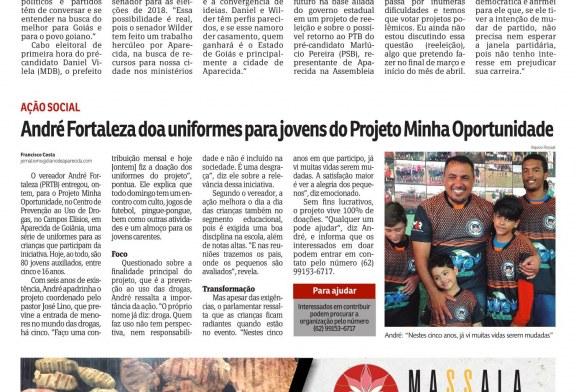 Reportagem no Jornal Diário de Aparecida